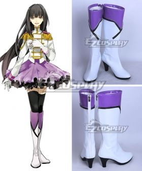 Tsukiuta. Yuki Hanazono Fluna January White Shoes Cosplay Boots