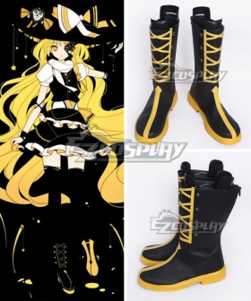 Touhou Project Koumajou Densetsu Legend of Scarlet Devil Castle Kirisame Marisa Black Shoes Cosplay Boots