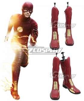 DC Comics The Flash Barry Allen Red Shoes Cosplay Boots - A Edition