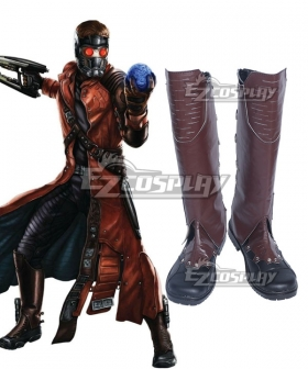 Marvel Guardians of the Galaxy Peter Quill Star Lord Brown Shoes Cosplay Boots