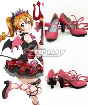 Love Live! Lovelive! Halloween Honoka Kousaka Hanayo Koizumi Little Devil Ver. Red Cosplay Shoes