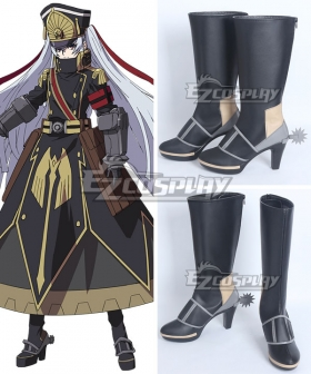Re: Creators Military Uniform Princess Black Shoes Cosplay Boots