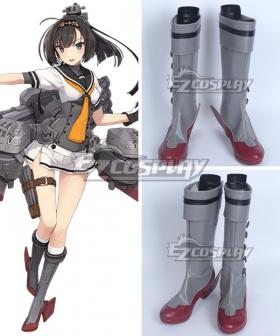 Kantai Collection Hatsuzuki Grey Shoes Cosplay Boots