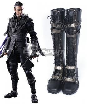 Kingsglaive: Final Fantasy XV FF15 Nyx Ulric Black Shoes Cosplay Boots