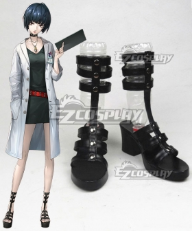Persona 5 Tae Takemi Black Shoes Cosplay Boots