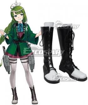 Kantai Collection Yūgumo Makigumo Akigumo Naganami Black Shoes Cosplay Boots