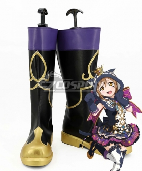 Love Live! Sunshine!! Halloween Hanamaru Kunikida Black Shoes Cosplay Boots