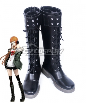 Persona 5 Futaba Sakura Black Shoes Cosplay Boots