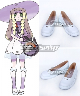 Pokemon Sun and Moon Lillie White Cosplay Shoes