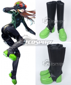 Persona 5 Futaba Sakura Black Shoes Cosplay Boots - A Edition