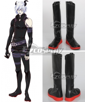 Rage of Bahamut: Virgin Soul Azazel Black Shoes Cosplay Boots