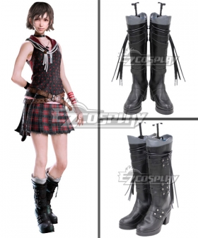 Final Fantasy XV Iris Amicitia Black Shoes Cosplay Boots