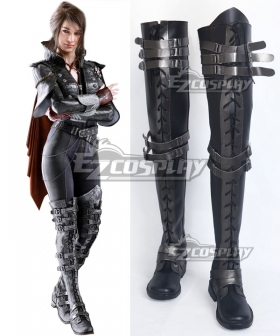 Final Fantasy XV Crowe Altius Black Shoes Cosplay Boots