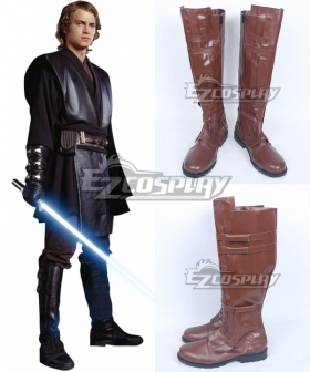 Star Wars Anakin Skywalker Darth Vade Brown Shoes Cosplay Boots
