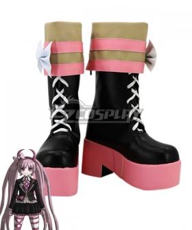 Danganronpa Kotoko Utsugi Pink Shoes Cosplay Boots