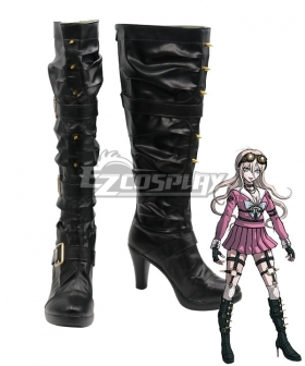 Danganronpa V3: Killing Harmony Miu Iruma Black Shoes Cosplay Boots