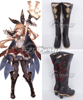 Granblue Fantasy Clarisse Black Shoes Cosplay Boots