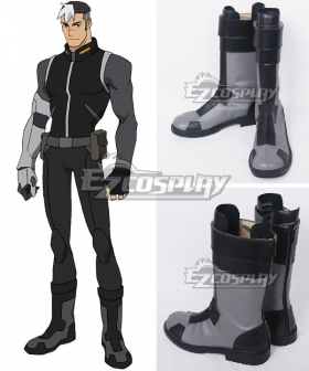 Voltron: Legendary Defender Shiro Takashi Shirogane Black grey Shoes Cosplay Boots