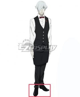 Death Billiards Decim Black Cosplay Shoes