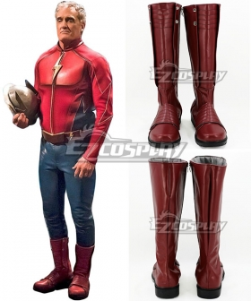 DC Arrowverse The Flash Jay Garrick Red Shoes Cosplay Boots