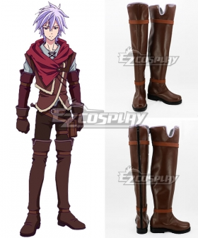 No Game No Life: Zero Riku Dola Brown Shoes Cosplay Boots