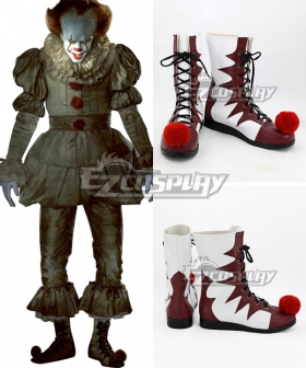 It 2017 Movie Pennywise Halloween Red Shoes Cosplay Boots
