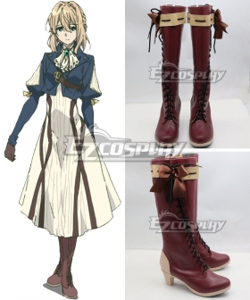 Violet Evergarden Violet Evergarden Red Shoes Cosplay Boots