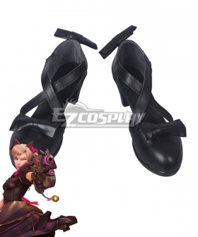 Overwatch OW Black Cat D.Va Dva Hana Song Skin Black Cosplay Shoes