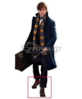 Fantastic Beasts and Where to Find Them Newt Scamander Brown Cosplay Shoes