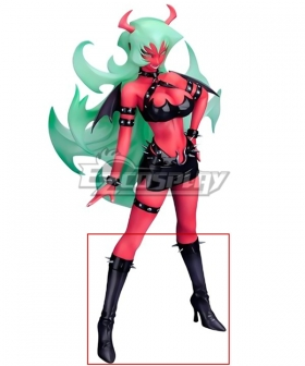 Panty And Stocking with Garterbelt Scanty Devil Sisters Black Shoes Cosplay Boots