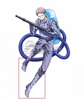 Juuni Taisen Zodiac War Nagayuki Tsumita Purple Shoes Cosplay Boots