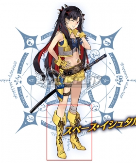 Fate Grand Order FGO Stage 2 Space Ishtar Yellow Shoes Cosplay Boots