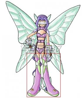 Digimon Kazemon Fairimon Purple Shoes Cosplay Boots