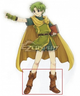 Fire Emblem Binding Blade Lugh Brown Shoes Cosplay Boots