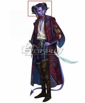 Critical Role Mollymauk Tealeaf Horn Cosplay Accessory Prop