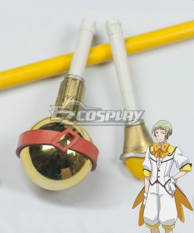Cute High Earth Defense Club Love! Io Naruko Yellow Staff Cosplay Weapon Prop