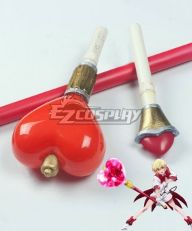 Cute High Earth Defense Club Love! Yumoto Hakone Red Staff Cosplay Weapon Prop