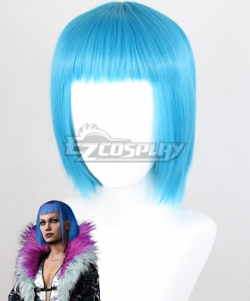 Cyberpunk 2077 Evelyn Parker Blue Cosplay Wig