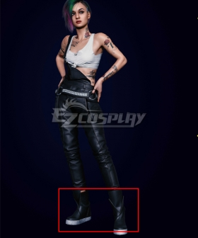 Cyberpunk 2077  Judy Alvarez Black Cosplay Shoes