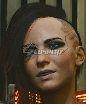 Cyberpunk 2077 V Female Black Cosplay Wig