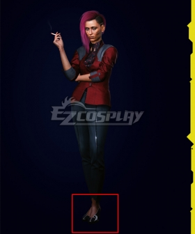 Cyberpunk 2077 V Female Corporate Black Cosplay Shoes
