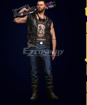 Cyberpunk 2077 V Male Nomad Cosplay Costume