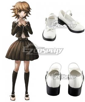 Danganronpa Dangan Ronpa : Trigger Happy Havoc Chihiro Fujisaki White Cosplay Shoes
