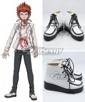 Danganronpa: Trigger Happy Havoc Leon Kuwata White Cosplay Shoes