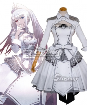 Date A Bullet Date A Live White Queen Kurumi Tokisaki Nightmare Wthie Dress Cosplay Costume