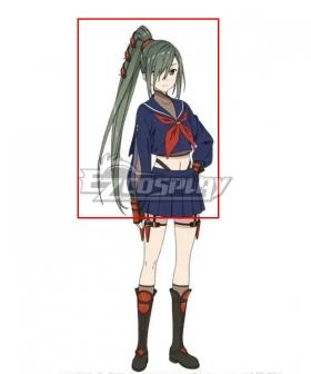 Date A Bullet Yui Sagakure Green Cosplay Wig