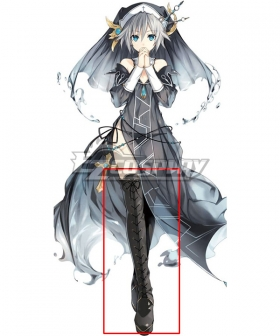 Date A Live Nia Honjou Black Shoes Cosplay Boots