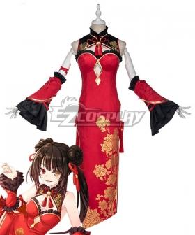 Date A Live Tokisaki Kurumi Cheongsam Cosplay Costume