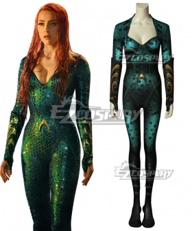 DC Aquaman 2018 Movie Mera Zentai Jumpsuit Cosplay Costume