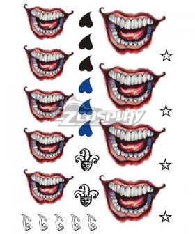 DC Batman Suicide Squad Joker Tattoo Sticker Cosplay Accessory Prop